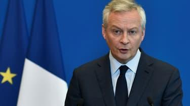 Le ministre de l'Economie Bruno Le Maire lors d'une conférence de presse à Paris, le 26 mai 2021