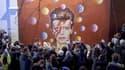 Une fresque en hommage à David Bowie à Brixton dans le sud de Londres