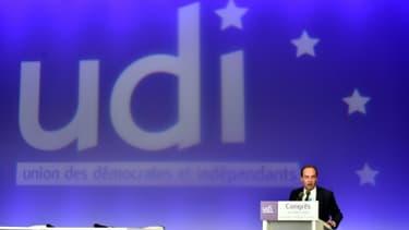 Jean-Christophe Lagarde, président de l'UDI, le 20 mars 2016 à Versailles en région parisienne