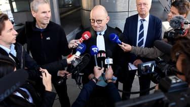 Maître Bernard Boulloud, avocat du chirurgien Docteur V, le 10 mai 2019 à Grenoble.