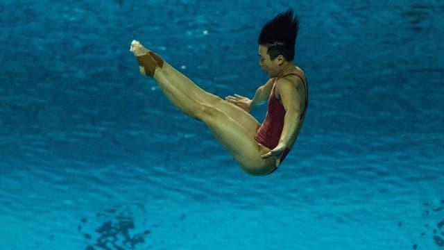 Tingmao Shi lors de la Coupe du monde 2016, qui servait déjà de préparation aux JO de Rio