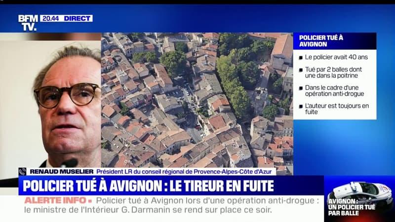 """Policier tué à Avignon: Renaud Muselier fait part de sa """"très grande tristesse pour la famille et les corps de police, qui payent cher leur travail"""""""