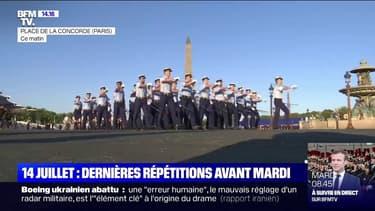 14-Juillet: dernières répétitions pour les militaires avant mardi