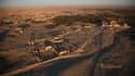 Vue aérienne d'une partie de la cité antique de Palmyre, en Syrie, prise avant les combats le 13 janvier 2009.