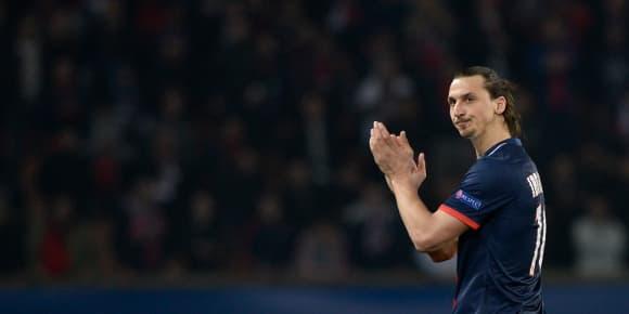 Zlatan Ibrahimovic pendant le match retour des huitièmes de finale de la Ligue des Champions, le 12 mars 2014.