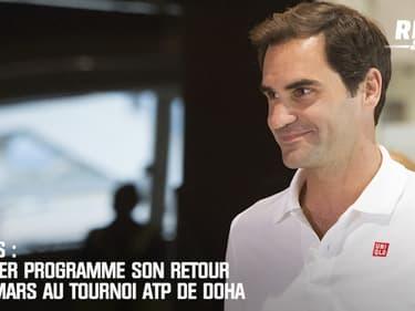Tennis : Federer programme son retour le 8 mars au tournoi de Doha