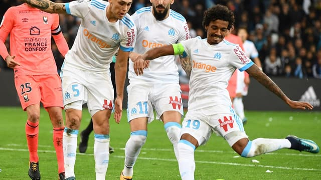Luiz Gustavo (Marseille), buteur face à Caen