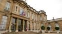 Le palais de l'Elysée à Paris. Selon la présidence de la République, le programme de réduction du train de vie de l'Etat annoncé par Nicolas Sarkozy en juin dernier pour donner l'exemple en période d'austérité est en bonne voie. La suppression de la récep