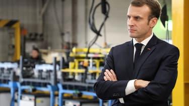 Emmanuel Macron, lors de sa visite à l'usine Renault de Maubeuge en novembre 2018