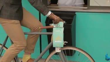 Le Mcbike peut s'accrocher aisément sur un vélo