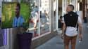 Un homme dans la rue pendant le match France-Argentine, le 30 juin 2018