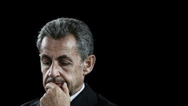 L'ancien président Nicolas Sarkozy, le 8 octobre 2021 à Bordeaux