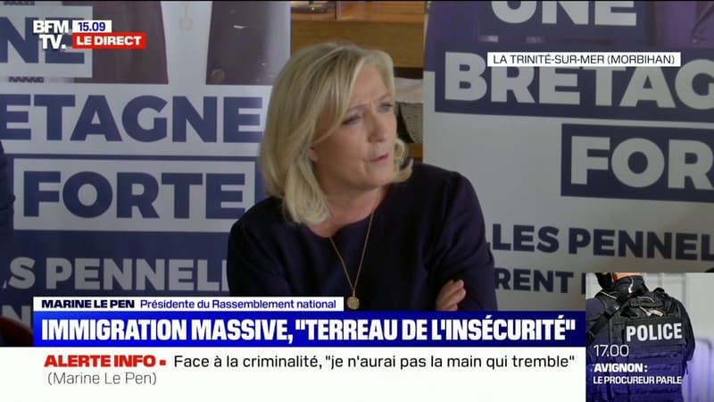 """Pour Marine Le Pen, Éric Dupond-Moretti a """"une forme de féminisme bien à lui"""""""