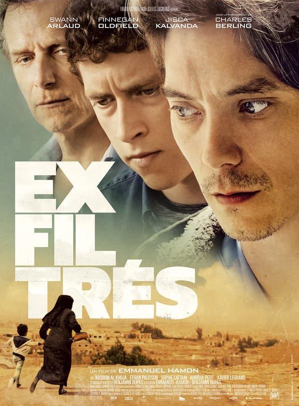 """Charles Berling, Finnegan Oldfield et Swann Arlaud dans """"Exfiltrés""""."""