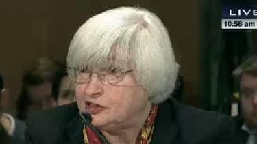 Janet Yellen devant les sénateurs américains ce 27 février.