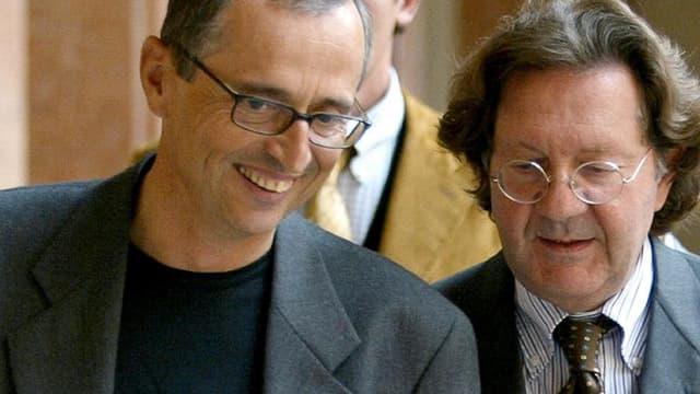 Le Dr Ferrari (à gauche)