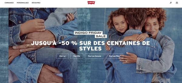 Les Indigo Friday Sale de Levis