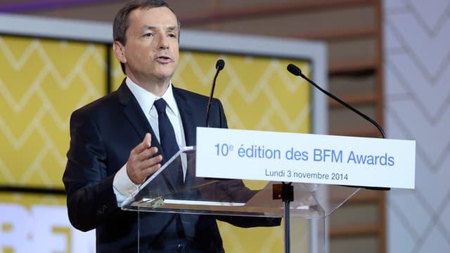 Alain Weill lors de la dixième édition des BFM Awards.