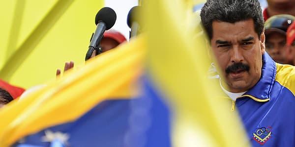 Nicolas Maduro s'adresse à ses partisans, le 24 février.