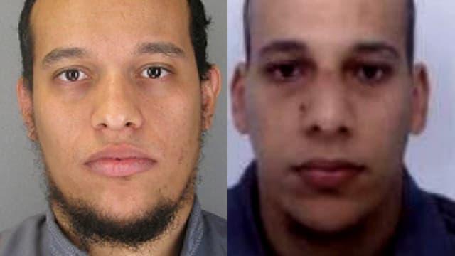 Saïd Kouachi, à gauche, et son petit frère Chérif, à droite, sont à l'origine de la tuerie à Charlie Hebdo.