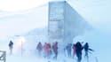 L'entrée de la Réserve mondiale des semences du Svalbard, en Norvège.