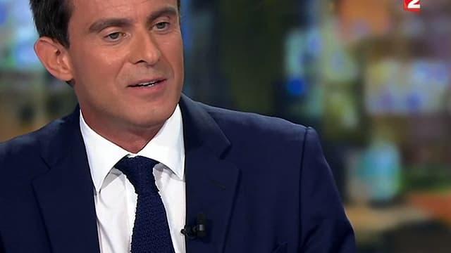 Manuel Valls était l'invité de France 2 ce mardi soir.