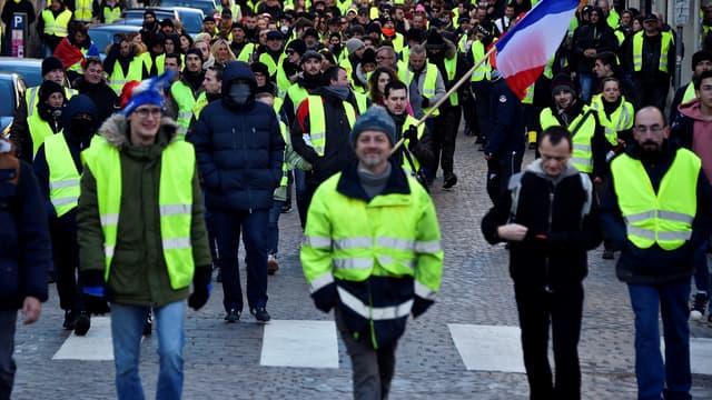 Des gilets jaunes défilent à Nancy le 19 janvier 2019. (Photo d'illustration)