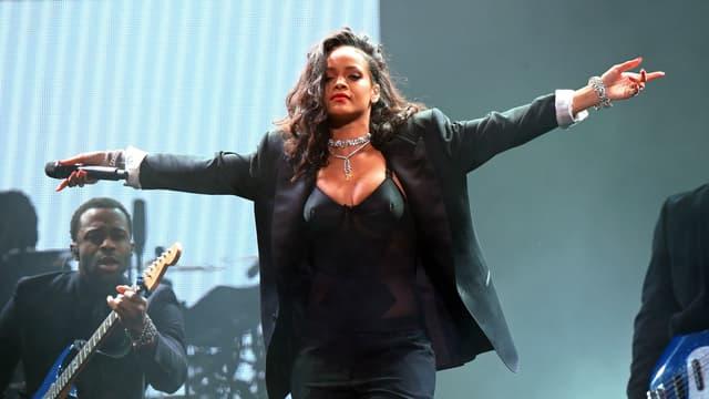 Rihanna en concert en janvier 2015.