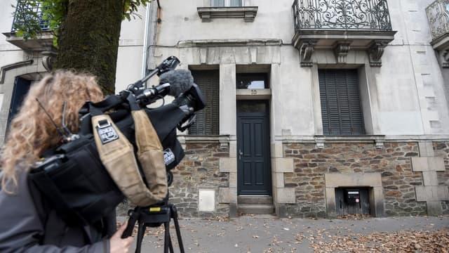 L'ancienne maison de la famille Dupont de Ligonnès, ce samedi, à Nantes