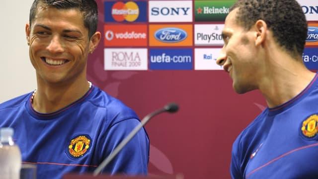Rio Ferdinand et Ronaldo ensemble sous le maillot de Manchester United