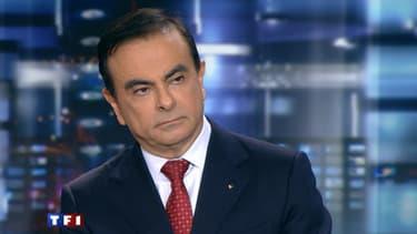 Le PDG de Renault, Carlos Ghosn, dans le 20h de TF1 lundi 14 mars.