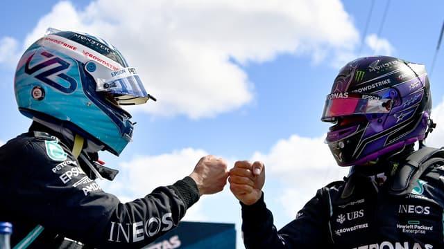 Bottas et Hamilton