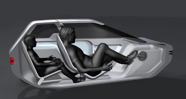 L'habitacle du véhicule urbain imaginé par Canyon
