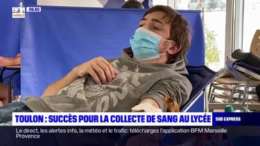 Toulon: succès pour la collecte de sang au lycée