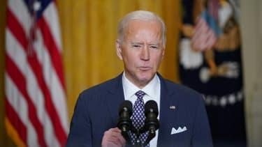 Le président américain Joe Biden à la Maison Blanche, le 19 février 2021 à Washington.
