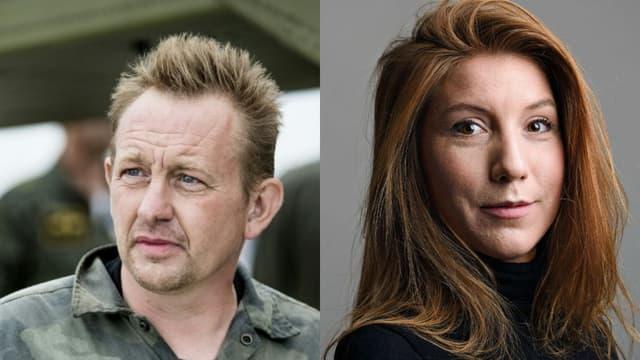 Peter Madsen, photographié le 11 août 2017 à Copenhague, et la journaliste suédoise Kim Wall.