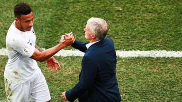 Tolisso et Deschamps au Mondial 2018