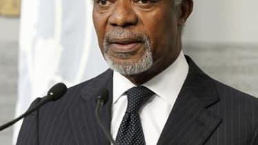 """Lors d'une réunion à Doha, au Qatar, de membres de la Ligue arabe, l'émissaire de la communauté internationale Kofi Annan a averti samedi que la Syrie était en train de basculer dans un """"conflit généralisé"""". /Photo prise le 1er juin 2012/REUTERS/Mohamed A"""