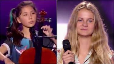 Leeloo (à g.) et Maria (à d.) ont charmé le jury de The Voice Kids