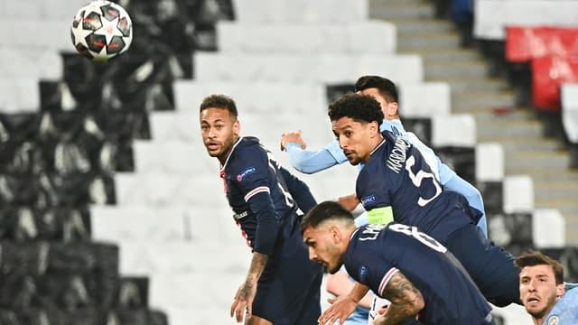 Le but de Marquinhos lors de PSG-Manchester City