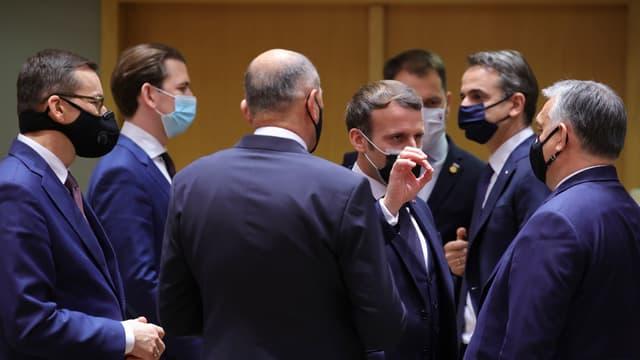 Emmanuel Macron était présent lors d'un Conseil européen les 10 et 11 décembre à Bruxelles.