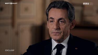 """Nicolas Sarkozy à l'émission """"Sept à huit"""" sur TF1. Diffusion du 24 janvier."""