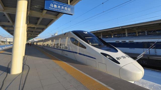 Le Lanxin a quitté la gare de Lanzhou pour la première fois ce 26 décembre, en direction d'Urumqi, la capitale du Xinjiang.