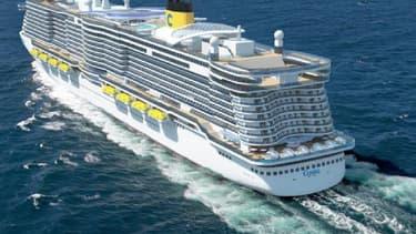 """Le projet Costa """"Excellence"""" prévoit la livraison de deux bateaux propulsés au gaz naturel liquéfié."""