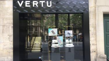 La boutique au 18 rue Royale à Paris