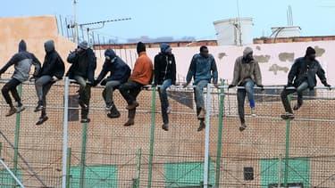 Des migrants à Melilla