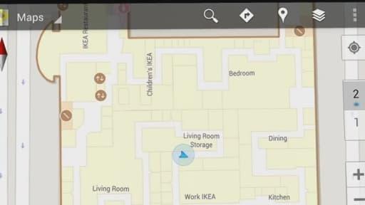 Google permet désormais aux magasins et centre commerciaux de mettre en ligne les plans de leurs batiments.