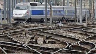 Le trafic ferroviaire français subit toujours quelques perturbations ce lundi, au treizième jour de grève consécutif, mais la direction et la CGT-Cheminots tablent sur une sortie de crise avant mercredi. /Photo prise le 7 avril 2010/REUTERS/Jean-Paul Péli