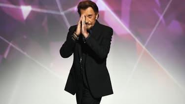 Johnny Hallyday à Paris en février 2016