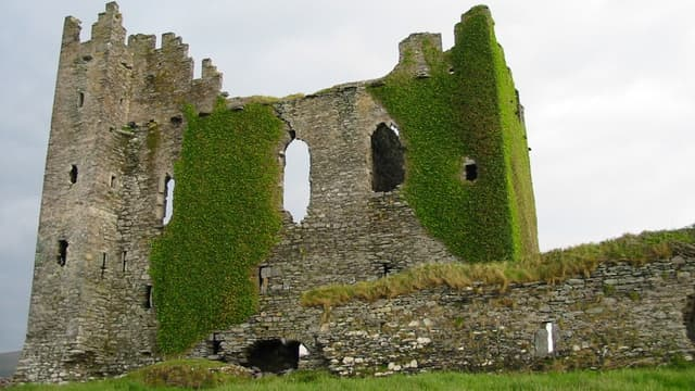 Le château de Ballycarbery en Irlande